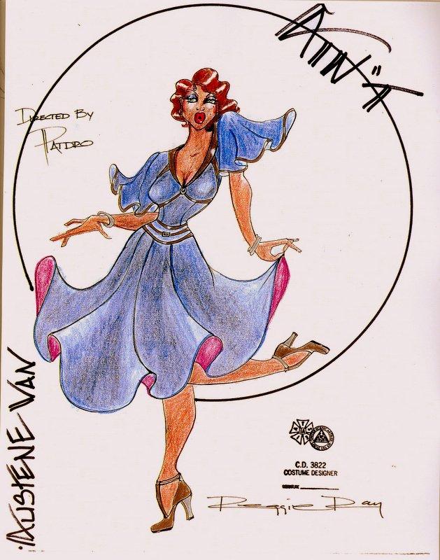 Sketch of Actress Austene Van