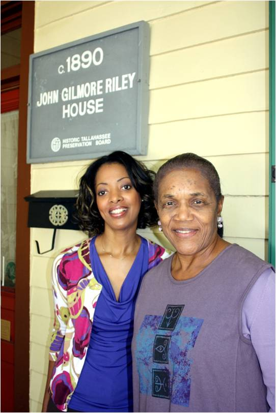 Marion McGee & Althemese Barnes pictured in front of the John Gilmore Riley Historic House Museum in Tallahassee, Florida.