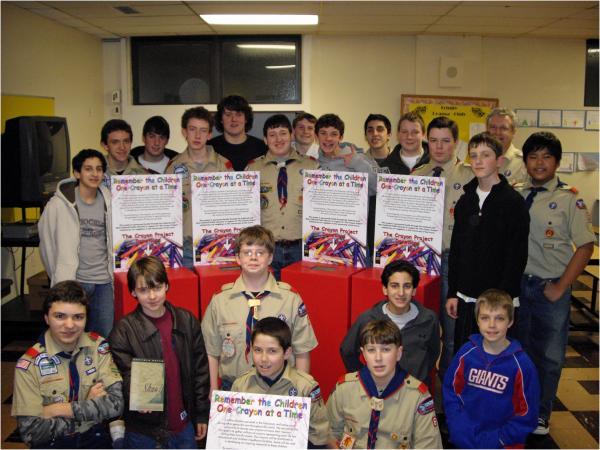 Boy Scout Troop Engaging in Caldwell
