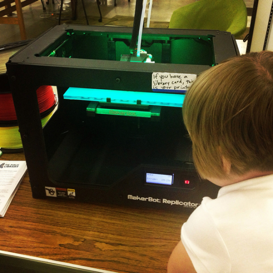 Maggie discovers 3D printing at the Chattanooga Public Library