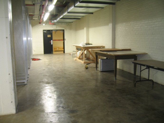Before view of the DIA store room