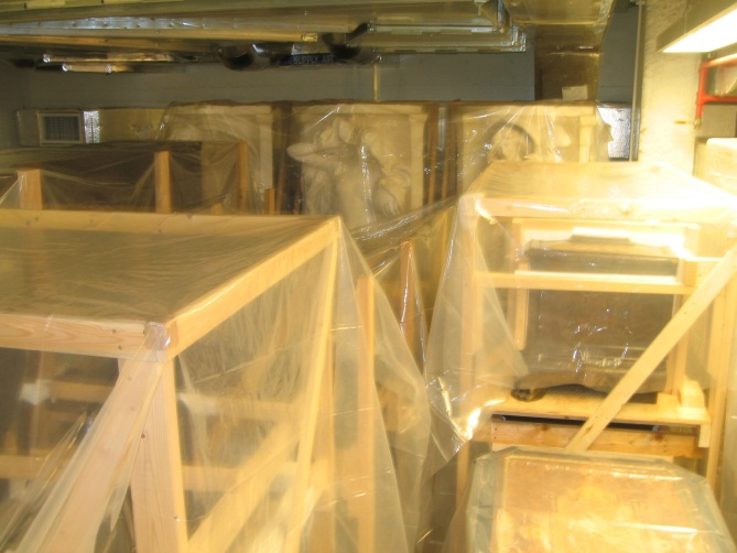 Another view of storage before IMLS grant