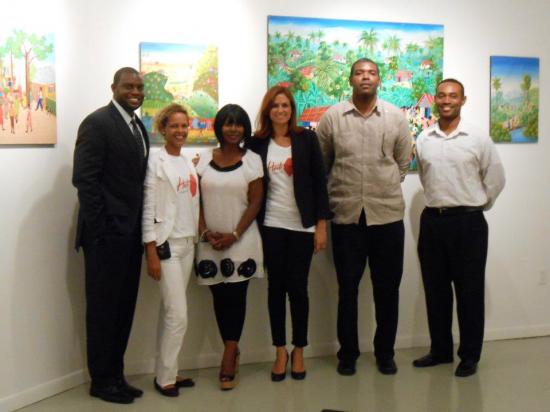 From Left: Reggie Bonhomme-HHM Board, Yvanka Jolicoeur-Mayor of Petion-Ville Haiti, Eveline Pierre-Exec. Director HHM, Stephanie Villedrouin- Minister of Tourism Haiti, Guy Francois- Vice Consul Haiti in Miami, Serge Rodriguez –Dir. of Operations HHM