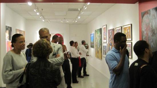 Art exhibit at the Hatian Heritage Museum