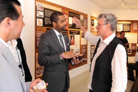 Eccehommo Guzman- Fundacion Colombo Americano Unidos, Francois Guillaume- Consul General Haiti of Miami, Enzo Carnebianca- Artist