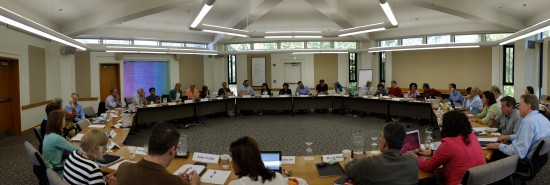 The Aspen Institute Dialogue on Public Libraries working group gathers for a round table discussion.