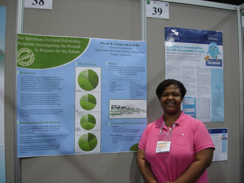 Nicole Cooke, doctoral candidate, Library and Information Science Dept. Rutgers Univ.