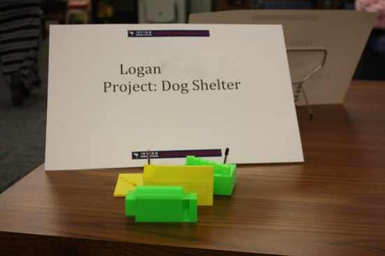Logan noticed a storm shelter is often too small to accommodate pets during a tornado. Using a 3D printer and Google Sketchup, he designed a storm shelter adapted to the needs of pets and their owners.