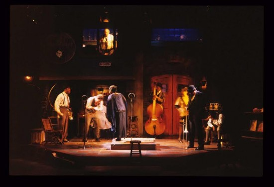 Actors on stage for the Penumbra Theatre production photo of August Wilson's Ma Rainey