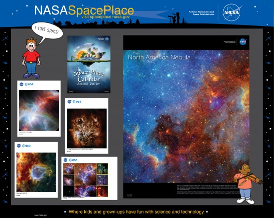 Display of NASA Facts that are given to libraries and musuems