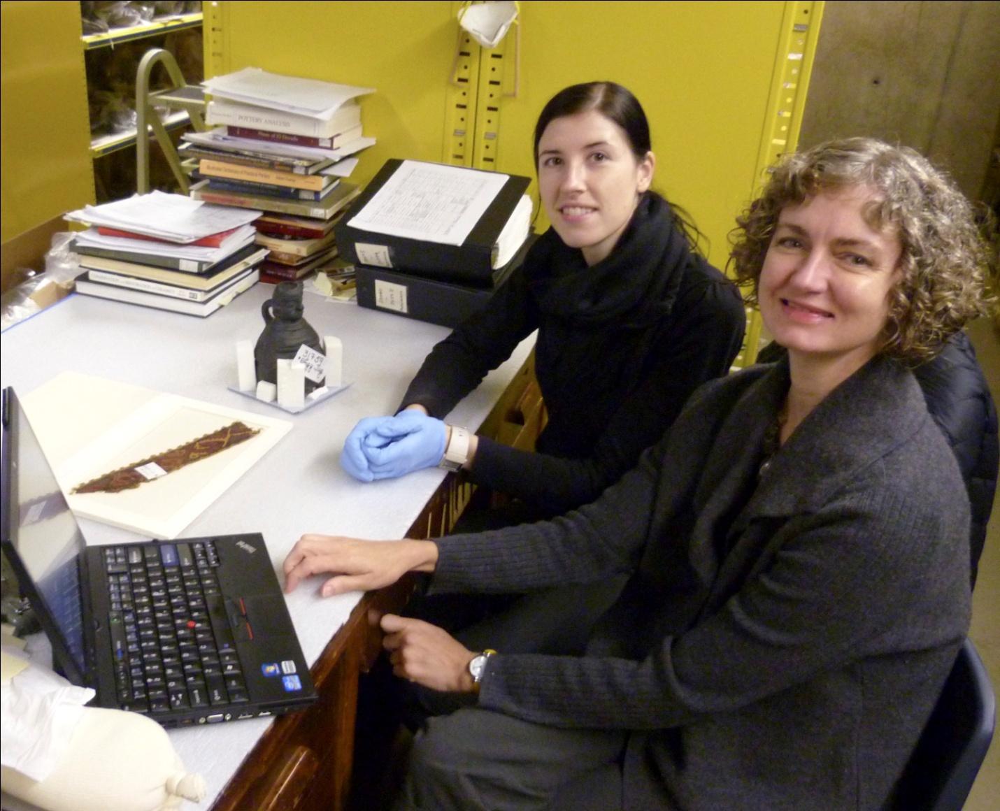 Post-graduate fellows Ainslie Harrison (left) and Fran Baas (right).