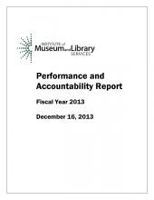 Cover of 2013 Performance and Accountability Report