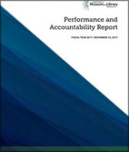 Cover of 2017 Performance and Accountability Report