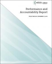 Cover of 2018 Performance and Accountability Report