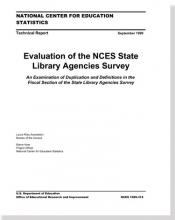 Cover of Evaluation of the NCES State Library Agencies Survey