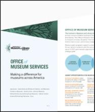 Cover of FY 2017 Office of Museum Services Brochure