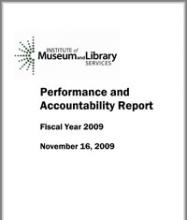 cover of 2009 Performance and Accountability Report