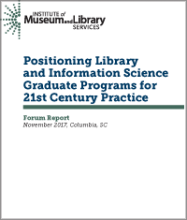 Cover of Positioning Library and Information Science Graduate Programs for 21st Century Practice
