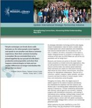 Cover of Strengthening Connections, Advancing Global Understanding: An Update on the International Strategic Partnership Initiative