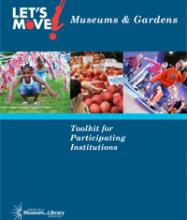 Cover of Let's Move Museums and Gardens toolkit