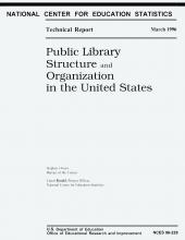 Cover of Public Library Structure and Organization in the United States