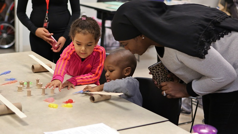 Participants in Leap Pre-K at the Walnut Street Library, Philadelphia