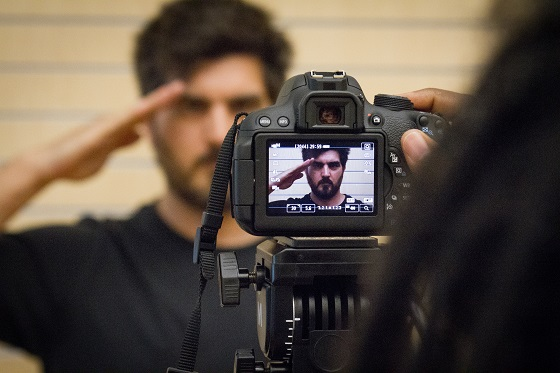 Man standing in front of camera