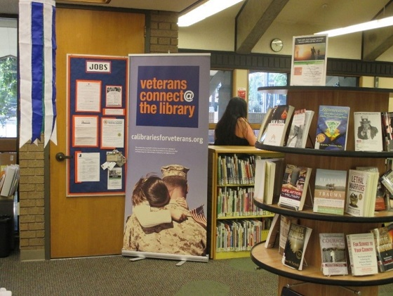 poster and collections in Veteran Resource Center