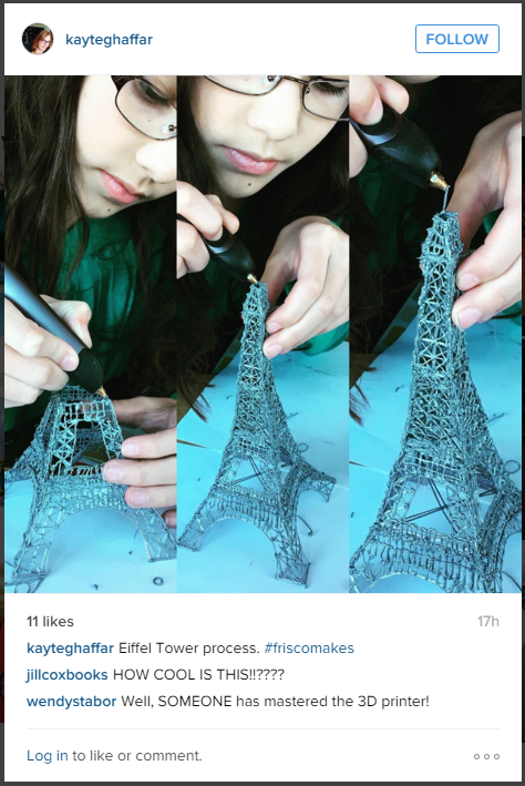 3Doodler Instagram Eiffel Tower Process