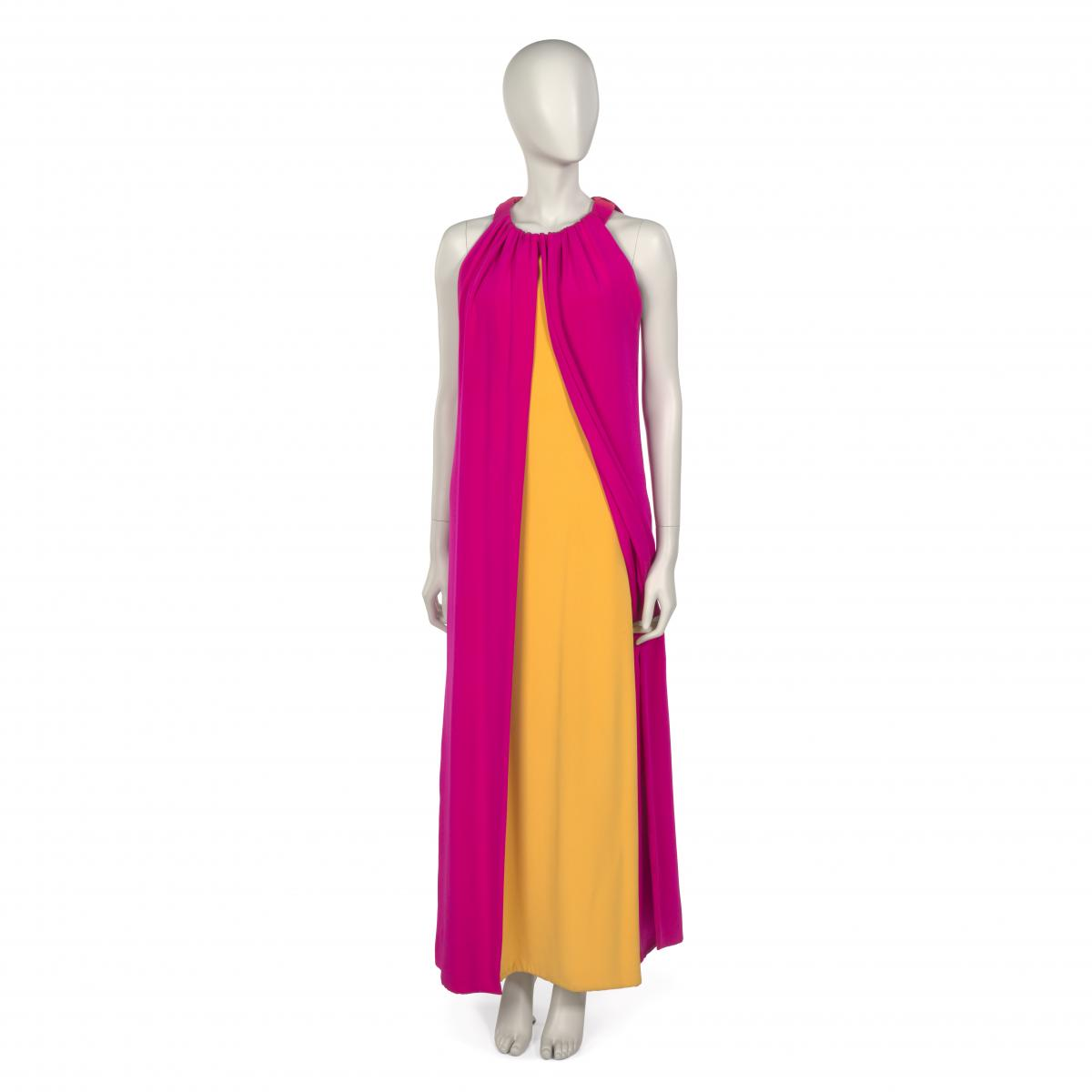Yves Saint Laurent. [Evening gown in silk crepe], 1967. Museum of the City of New York, 77.98.23.