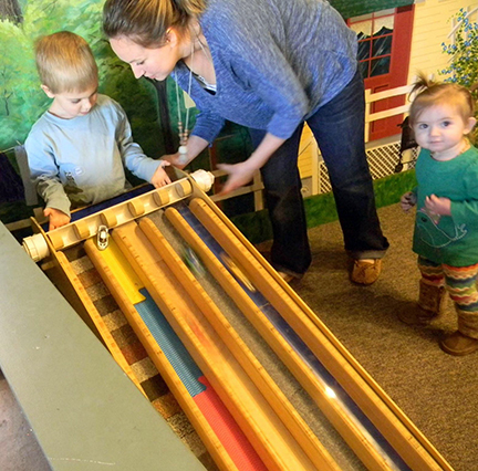 (Pictured: Parents are encouraged to learn along with their children during the Homeschool Hangouts. Photo Courtesy of The Children's Museum.)