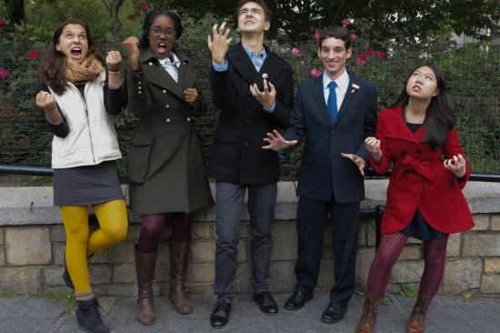 National Student poets pose for a photo in Central Park.