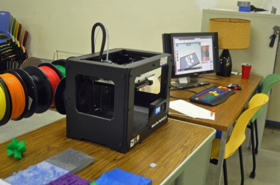 A 3D printer at the Chattanooga Public Library