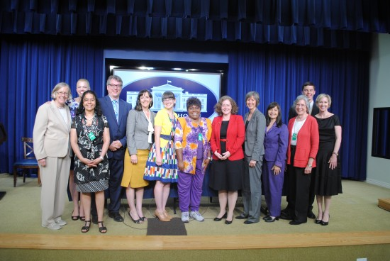 IMLS Director Susan Hildreth poses for a photo with the Champions of Change.