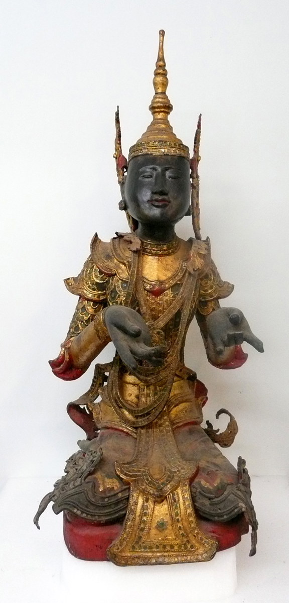 Burmese 19th Century Adorant (Sculpture) from the Doris Duke Collection. Walters Art Museum accession number 25.240.