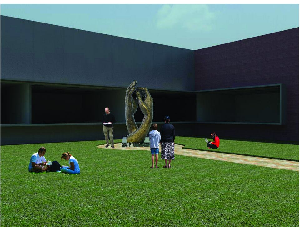 Rendering of the proposed courtyard at the MWC.