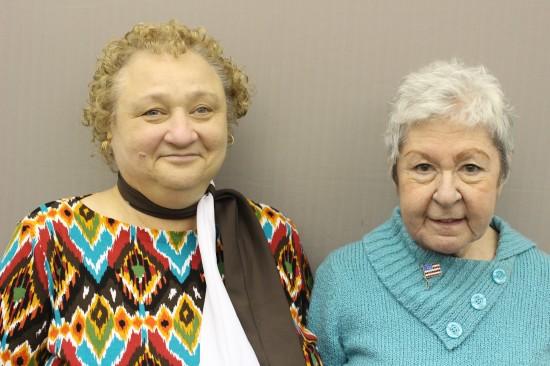 Marcia Trawinski and Dottie Gibson