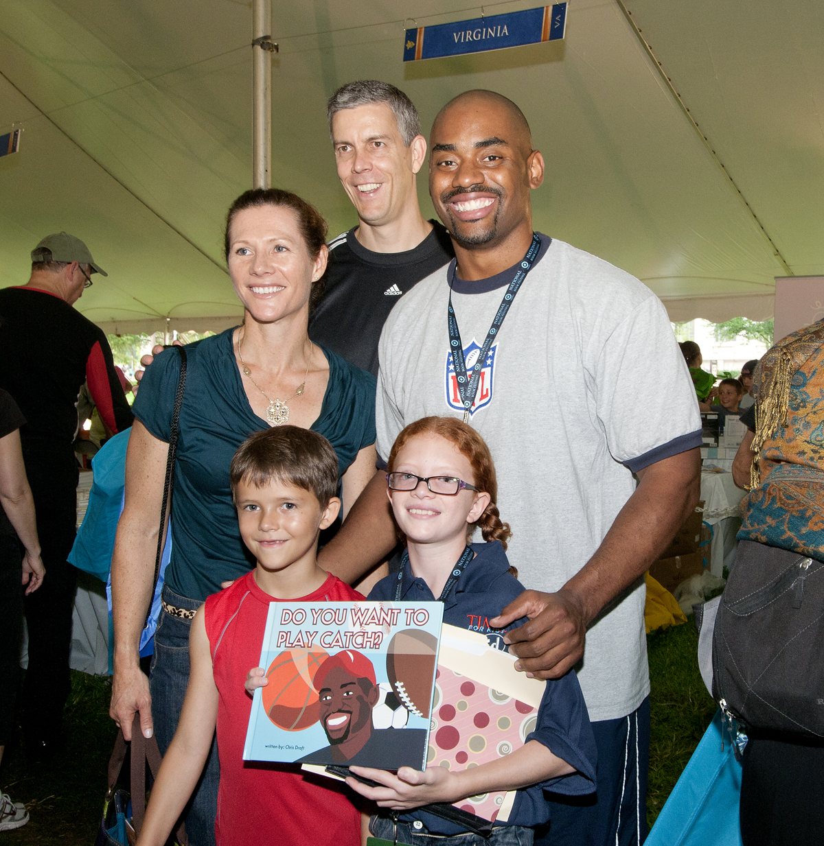 Secretary of Education Arne Duncan & Family with Chris Draft