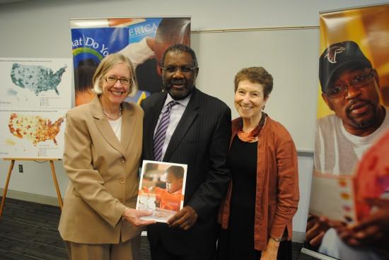 Hildreth, Smith, and Marsha Semmel, former director of strategic partnerships, IMLS.