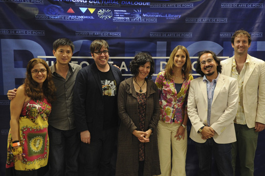 Filmmakers and Sundance Staff with the director of Museo de Arte de Ponce