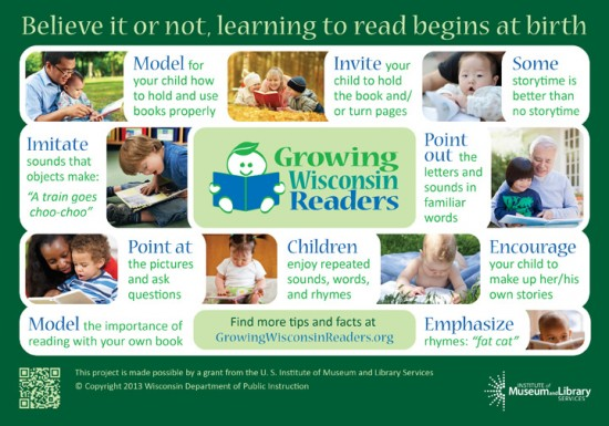 A tip sheet developed for the Growing Wisconsin Readers initiative