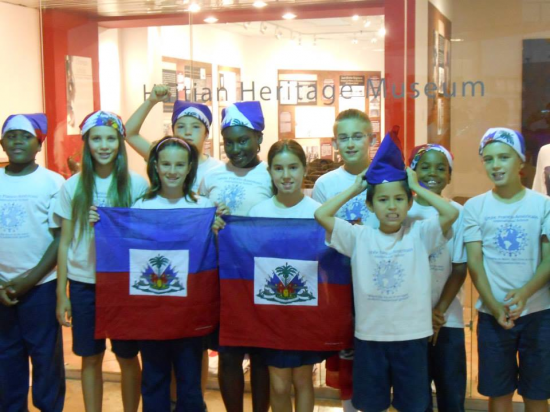 Students from Lycee Franco American International School
