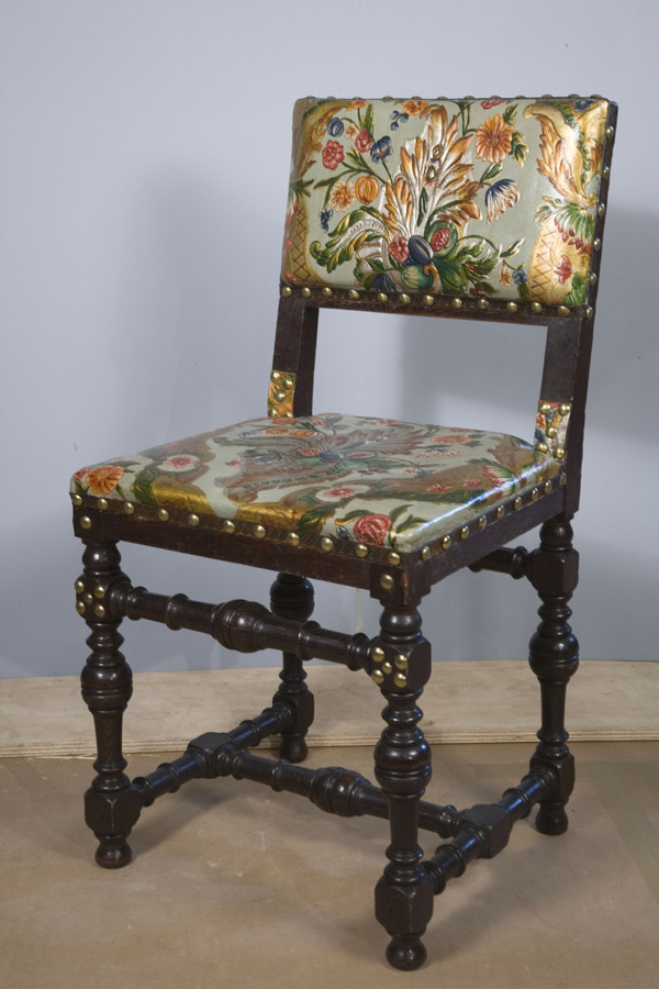 One of chairs treated with funding from the IMLS grant