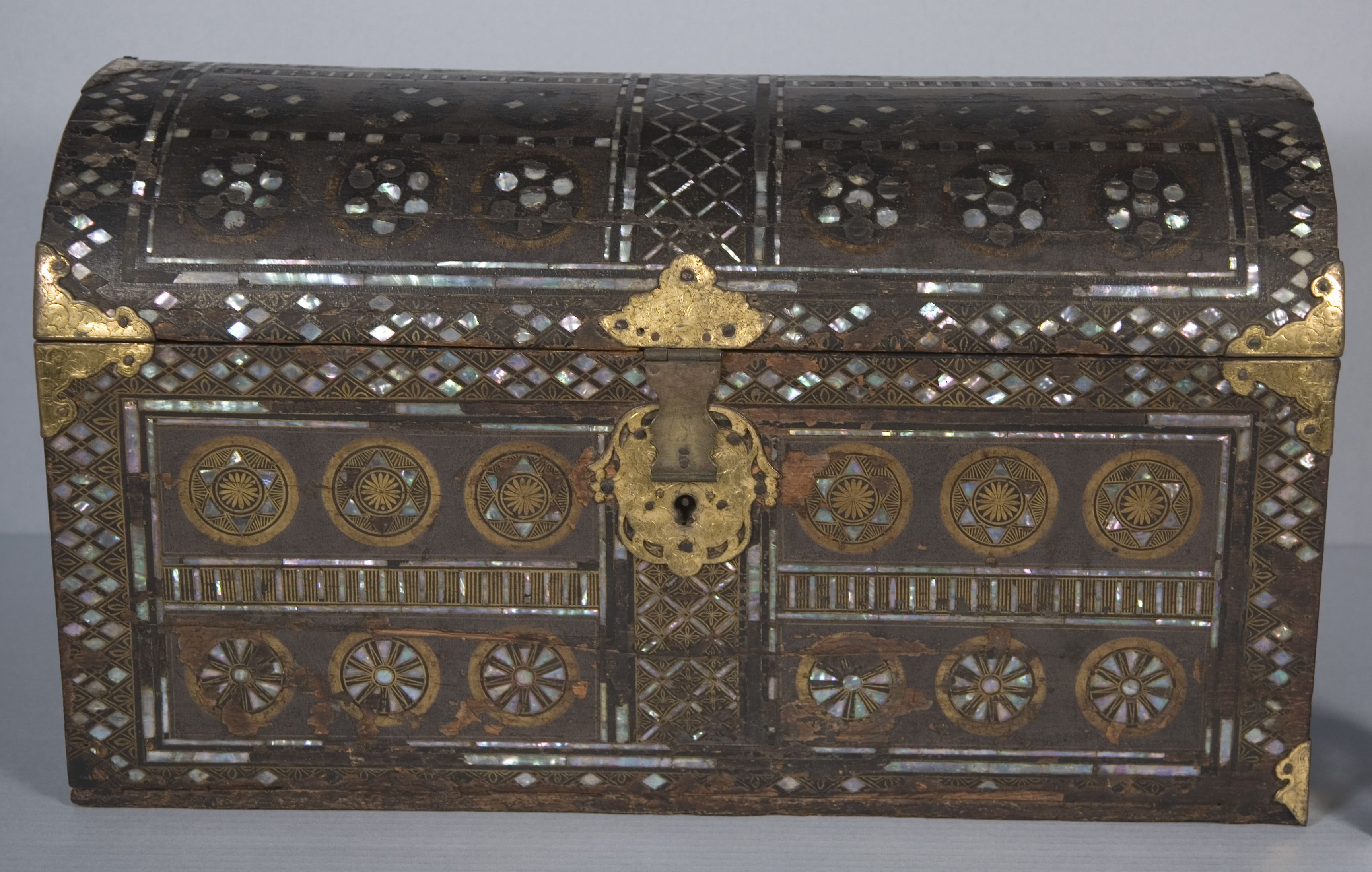 Namban Chest that was stabilized and cleaned