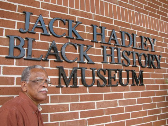 """Mr. James """"Jack"""" Hadley started his collection over 32 years ago.  He stands in front of the permanent home for the collection which opened in 2006."""