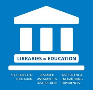 Libraries = Ed logo