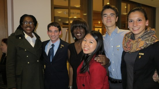 (From the left: Sojourner Ahebee; Louis Lafair; Patricia Smith; Aline Dolinh; Nathan Cummings and Michaela Coplen).