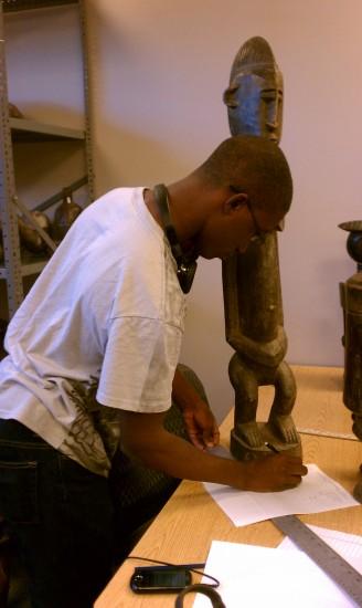 D'Andre Holmes, an Art Major at TSU.