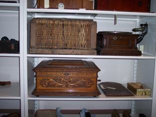 Collection storage at General Lew Wallace Study and Museum after CAP