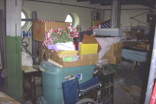 Collection storage at General Lew Wallace Study and Museum before CAP